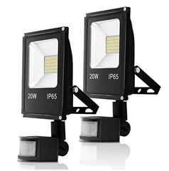 Bild zu 2er Set Hengda LED Strahler mit Bewegungsmelder (20W-50W/1700LM-4250LM) ab 23,39€