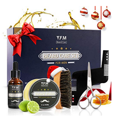 Bild zu Y.F.M Bartpflege Set (Bartöl, Bartbalsam, Bartkamm, Bartschere, Bartbürste) für 8,39€