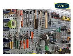 Bild zu raaco Werkstattset mit 4 Lochplatten und 38 Haken für 68,90€ (Vergleich: 90,44€)