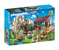 Bild zu PLAYMOBIL 9126 Kletterfels mit Berghütte für 26,98€ (Vergleich: 41,39€)