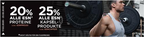 Bild zu Fitmart: 20% Rabatt auf alle ESN Proteine bzw. 25% Rabatt auf alle ESN Kapselprodukte