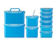Bild zu Lock&Lock 10 Frischhaltedosen luft- und wasserdicht (stapelbar, 360ml – 4,5l) ab 14,47€