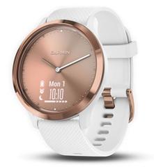 Bild zu GARMIN Smartwatch Vivomove HR Sport (S/M) Rosegold/weiß für 123,95€ (Vergleich: 149€)