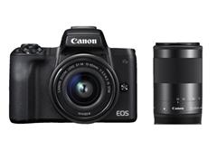 Bild zu CANON EOS M50 Kit Systemkamera 24.1 Megapixel mit Objektiv 15-45 mm, 55-200 mm für 649€