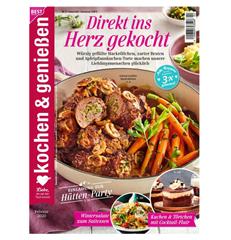 """Bild zu Jahresabo (12 Ausgaben) der Zeitschrift """"kochen & genießen"""" für 42€ + 30€ Prämie für den Werber"""