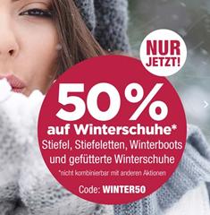 Bild zu 50% Rabatt auf ausgewählte Winterschuhe bei Reno.de
