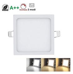 Bild zu 10er Pack Ultraslim LED Einbauleuchten mit Trafo (24W, eckig, dimmbar, EEK: A++) für 55,99€