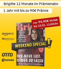 """Bild zu [endet morgen] Deutsche Post Leserservice: Jahresabo """"Brigitte"""" für 94,90€ + bis zu 90€ Prämie"""