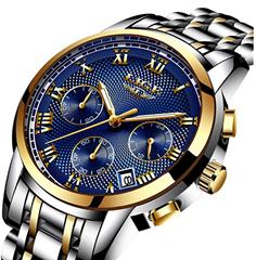 Bild zu Lige Herren Uhr aus Edelstahl in versch. Farben für je 17,99€