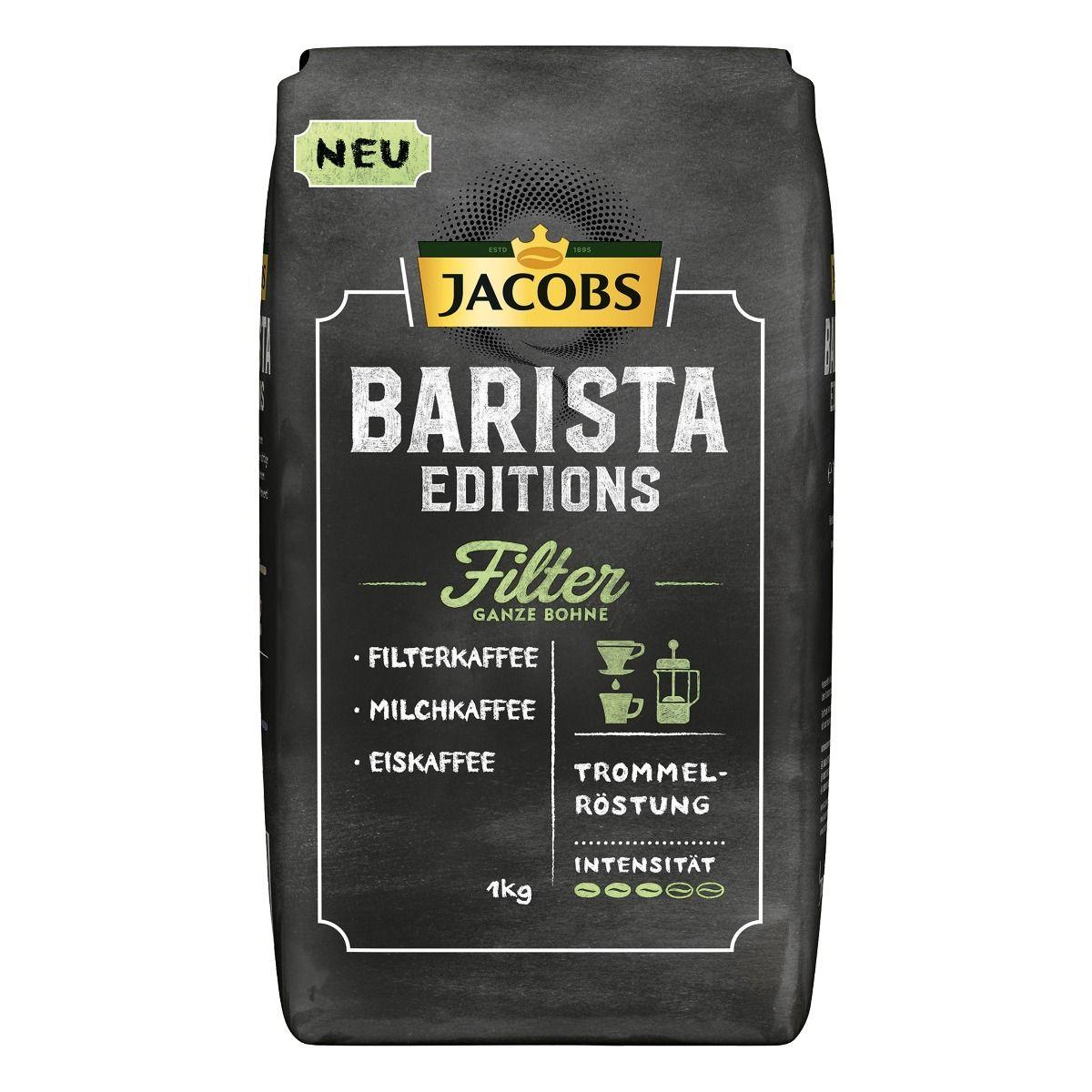 Bild zu 4 kg Jacobs Barista Editions Filter Kaffeebohnen für 45,56€ (Vergleich: 50,76€)