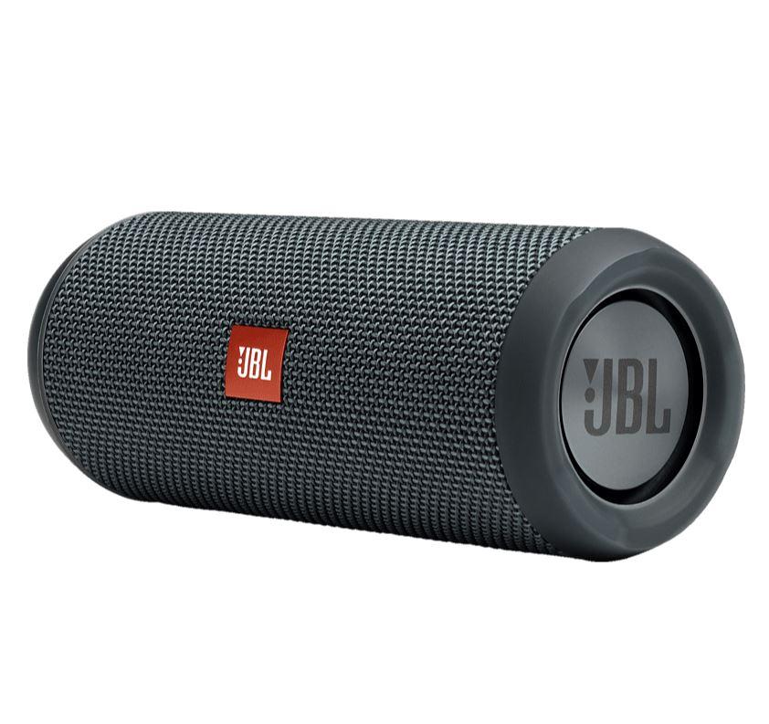 Bild zu JBL Flip Essential Bluetooth Lautsprecher (Ausgangsleistung 2x 8 Watt, Wasserfest, Gun Metal) für 55€ VG: 69,98€)