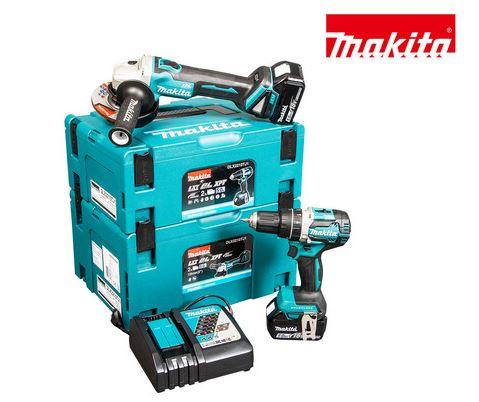 Bild zu Makita 18V LXT Kombi-Set DLX2210TJ1 | Schlagbohrschrauber + Winkelschleifer für 408,90€ (VG: 567€)