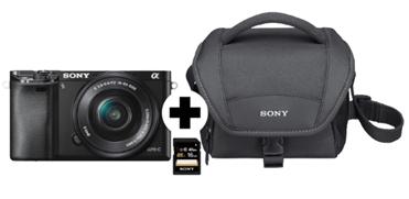 Bild zu SONY Alpha 6000 KIT (ILCE-6000L) + Tasche + Speicherkarte für 399€ inkl. Versand