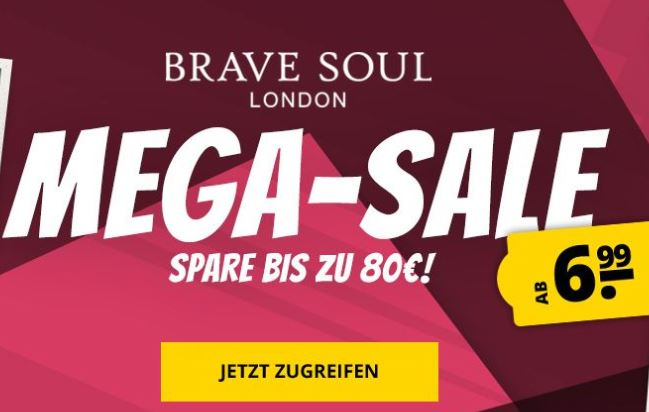 Bild zu SportSpar: Brave Soul Mega-Sale mit bis zu 75% Rabatt
