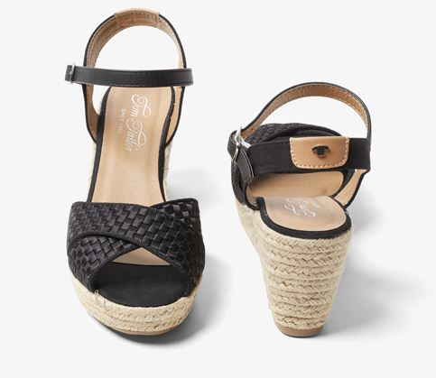 Bild zu Tom Tailor Sandaletten mit Keilabsatz für 24,98€ (VG: 39,99€)