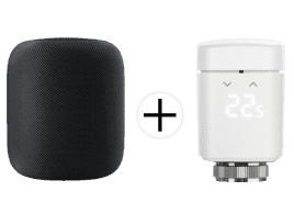 Bild zu APPLE HomePod Smart Speaker + EVE Thermostat für 309€ (VG: 353,49€)