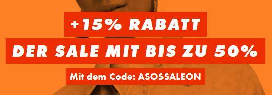 Bild zu ASOS: 50% Sale + 15% EXTRA Rabatt dank Gutschein