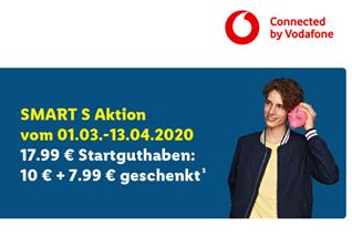 Bild zu Lidl Connect Smart S im Vodafone Netz mit 3GB LTE, Allnet+SMS Flat für 7,99€ für 4 Wochen mit 17,99€ Startguthaben (einmalig 9,99€)