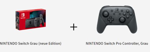 Bild zu [beendet] NINTENDO Switch Grau (neue Edition) + NINTENDO Switch Pro Controller, Grau für 309€ (VG: 363€)