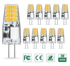 Bild zu 10er Pack G4 LED Birnen (3W ersetzt 35W Halogenlampen, Warmweiß, 350LM) für 7,85€