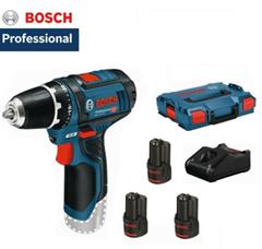 Bild zu Bosch GSR 10,8-2-LI Professional Akkuschrauber mit 3 x 2,0 Ah Akku in L-BOXX für 113,89€ (VG: 143,89€)