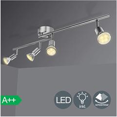 Bild zu Hengda LED Deckenleuchte Schwenkbar Inkl. GU10 LED Leuchtmittel 2-flammig für 11,19€ oder 4-flammig für 16,72€