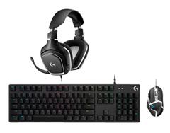 Bild zu Logitech G332 SE Headset, Logitech G512 Tastatur und Logitech G502 Hero SE Maus für 129€ (Vergleich: 159€)