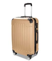 Bild zu TolleTour Trolley Koffer mit Zahlenschloss (ABS-Hartschale, Alu-Teleskopgriff, mit 4 360° Rollen) ab 21,05€