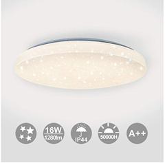Bild zu Hengda LED Deckenleuchte Warmweiss mit Sternendekor 16W 1280 Lumen 2700-3200 Kelvin Ø34 cm für 21,49€