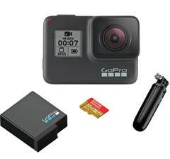 Bild zu GOPRO HERO7 Black Holiday Bundle Action Cam 4K (60fps) , WLAN, Touchscreen für 296,10€ (VG: 329€)