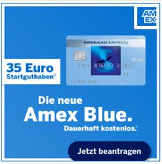 Bild zu American Express Blue Kreditkarte dauerhaft kostenlos + 35€ Startguthaben