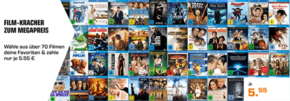 Bild zu Saturn: über 70 verschiedene Filme auf Blu-ray für je 5,55€