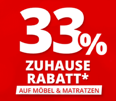 Bild zu Möbel Höffner: 33% Zuhause-Rabatt auf Möbel und Matratzen