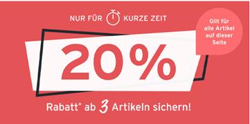 Bild zu Tchibo: 20% Rabatt beim Kauf von mindestens 3 Artikeln aus dem Aktions-Sortiment