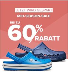 Bild zu Crocs: Mid-Season Sale mit bis zu 60% Rabatt + kostenlose Lieferung