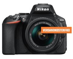 Bild zu NIKON D5600 Kit Spiegelreflexkamera, 24.2 Megapixel, Full HD, 18-55 mm Objektiv (AF-P, DX, VR), Touchscreen Display, WLAN für 444€ (VG: 539,99€)
