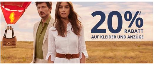 Bild zu Peek & Cloppenburg*: 20% Rabatt auf Kleider & Anzüge