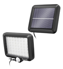 Bild zu Solaraußenleuchte mit Bewegungsmelder (56 LEDs, IP65, 120°Beleuchtungswinkel) für 14,94€