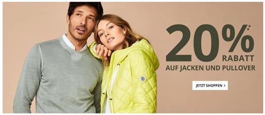 Bild zu Peek & Cloppenburg*: 20% Rabatt auf Jacken & Pullover