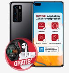 Bild zu Huawei P40 mit gratis FreeBuds 3 + Watch GT 2 für 49€ im o2 Tarif (40GB LTE, SMS und Sprachflat) für 34,99€/Monat