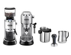 Bild zu DELONGHI EC 685 Barista Bundle Espressomaschine & Kaffeemühle inkl. Zubehör Silber für 269€ (Vergleich: 324,99€)