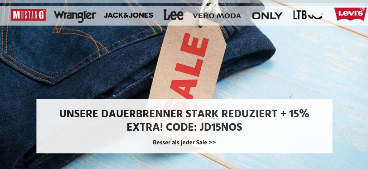 Bild zu Jeans Direct: 15% Extra-Rabatt auf ausgewählte Marken
