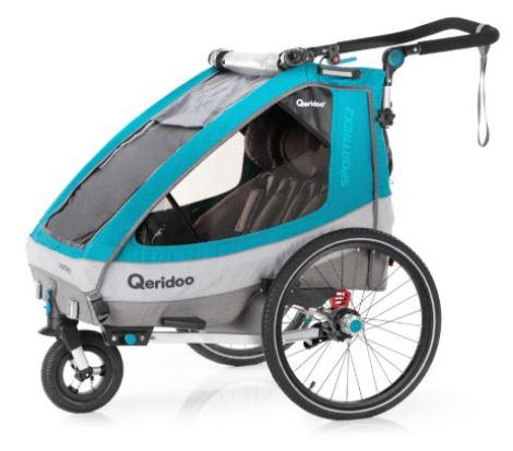 Bild zu Qeridoo Kinder-Fahrradanhänger Sportrex2 (Petrol) für 409,99€ (VG: 499€)
