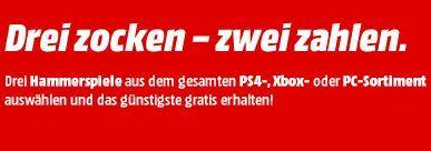 """Bild zu MediaMarkt: """"3 zocken – 2 zahlen"""""""