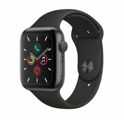 Bild zu Apple Watch Series 5 (44 mm, Aluminiumgehäuse spacegrau, Sportarmband schwarz) für 408,27€ (VG: 449€)