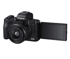 Bild zu Canon EOS M50 Kit (Systemkamera mit Objektiv EF-M 15-45 schwarz) für 517,95€ (VG: 568,75€)