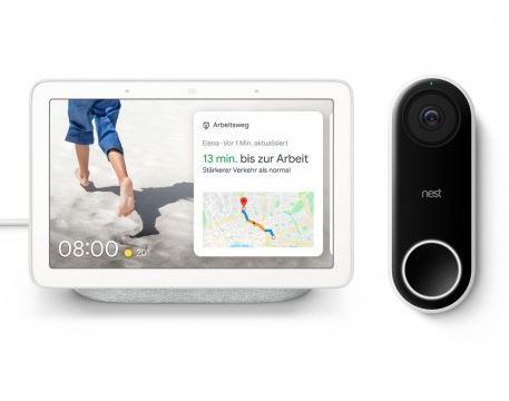 Bild zu Google Nest Hello + Google Nest Hub für 299,95€ (353,57€)