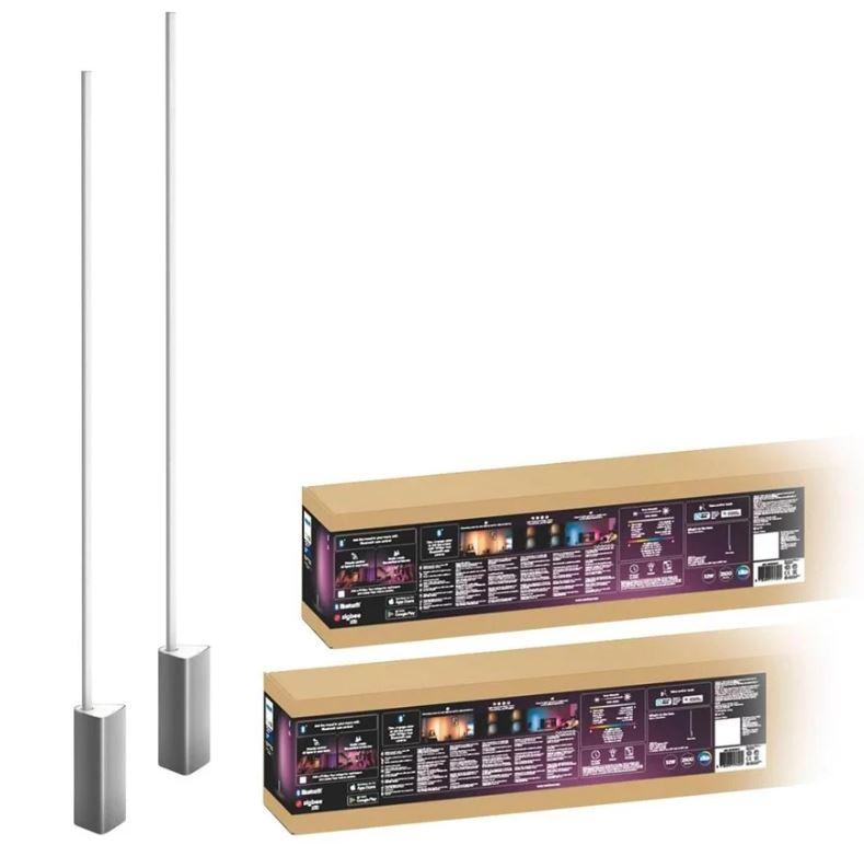 Bild zu Proshop: diverse Philips Hue Angebote z.B.: Philips Hue Signe White & Color Ambiance Stehlampe Doppelpack (Bluetooth) für 329€ (VG: 445,36€)