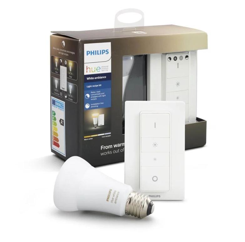 Bild zu Philips Hue White Ambiance Light Recipe Kit E27 mit bluetooth Dimmschalter für 22,90€ (VG: 30,78€)