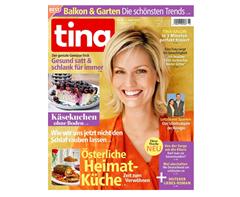 """Bild zu Jahresabo (52 Ausgaben) der Zeitschrift """"Tina"""" für 87,88€ + 70€ Prämie (z.B. Amazon.de Gutschein)"""